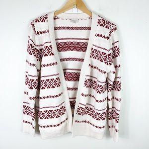 Talbots  nordic fair isle cardigan sweater